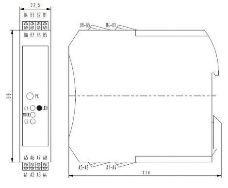 MV 3010 pH Transmitter modul, PLC-hez
