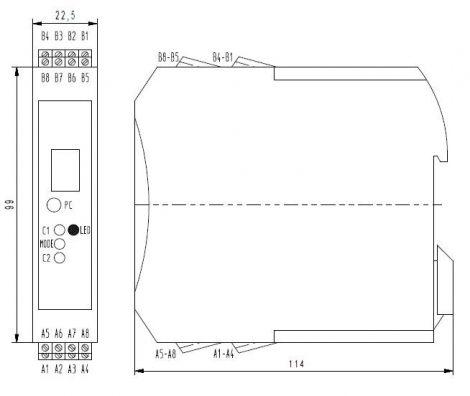 MV 4015 Redox(ORP) Transmitter modul, Kijelzővel, PLC-hez
