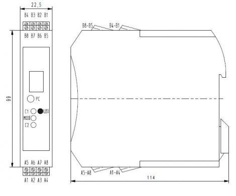 MV 4010 pH Transmitter modul,Kijelzővel, PLC-hez