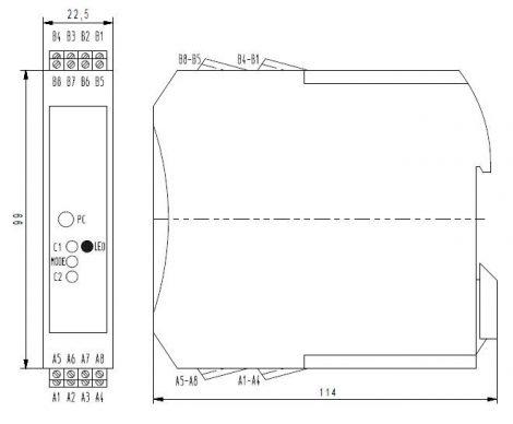 MV 3060 Klór Transmitter modul, PLC-hez