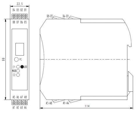 MV 4060 Klór Transmitter modul, Kijelzővel, PLC-hez