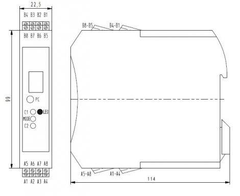 MV 4025 Fajlagos vezetőképesség Transmitter 4 cellás elektródához, Kijelzővel, PLC-hez
