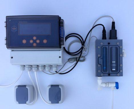 GENIUS 4 CLK-pH mérő-szabályozó berendezés