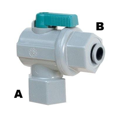 """MD Könyökcsap, Belső menet (G1/4"""") - Mur-lok (6 mm) Gyorscsatlakozó karmantyú (I0400425)"""