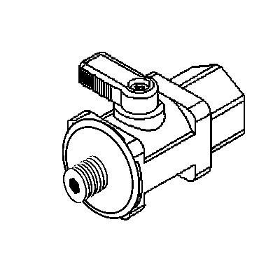 """MD 1/4""""-1/4"""" Laborfitting Külső-belső menetes PVC golyóscsap (G0400415)"""