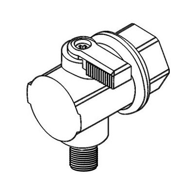 """MD Könyökcsap, Menet (G1/2"""") - Mur-lok (10 mm) Gyorscsatlakozó karmantyú (I0810625)"""