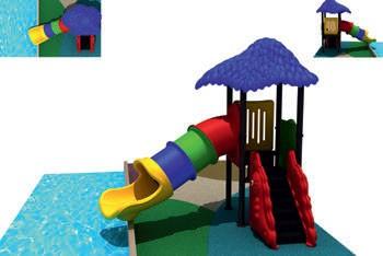 MODUL TOBOGAN 0002 Csúszdás vizes játszótér
