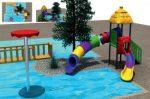 MODUL TOBOGAN 0003 Csúszdás vizes játszótér