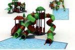 MODUL TOBOGAN 0005 Csúszdás vizes játszótér
