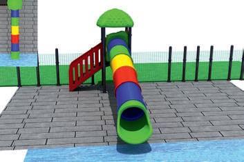 MODUL TOBOGAN 0011 Csúszdás vizes játszótér