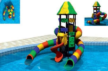 MODUL TOBOGAN 0012 Csúszdás vizes játszótér