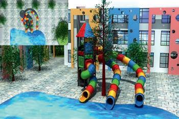 MODUL TOBOGAN 0021 Csúszdás vizes játszótér