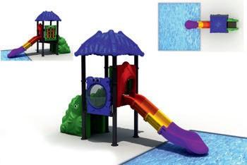MODUL TOBOGAN 0022 Csúszdás vizes játszótér