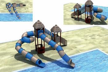 MODUL TOBOGAN 0026 Csúszdás vizes játszótér