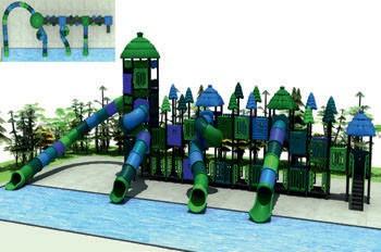 MODUL TOBOGAN 1036 Csúszdás vizes játszótér