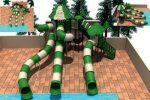 MODUL TOBOGAN 1037 Csúszdás vizes játszótér