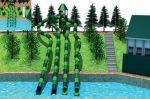 MODUL TOBOGAN 1045 Csúszdás vizes játszótér
