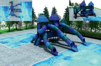 MODUL TOBOGAN 1056 Csúszdás vizes játszótér