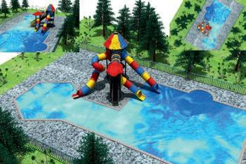 MODUL TOBOGAN 1057 Csúszdás vizes játszótér