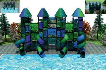 MODUL TOBOGAN 1061 Csúszdás vizes játszótér