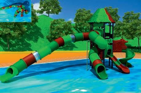 MODUL TOBOGAN 1062 Csúszdás vizes játszótér