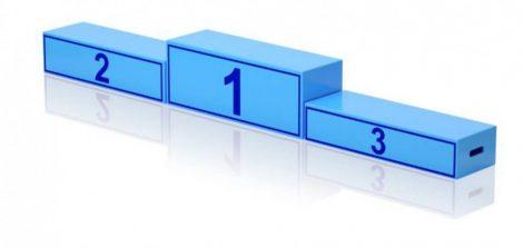 Eredményhirdető dobogó felnőtt csapatoknak - 200 x 40 cm