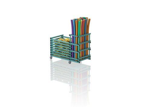 TEO V2 - Gurulós kombinált tároló (vízszintes rácsozás; tető nélkül)