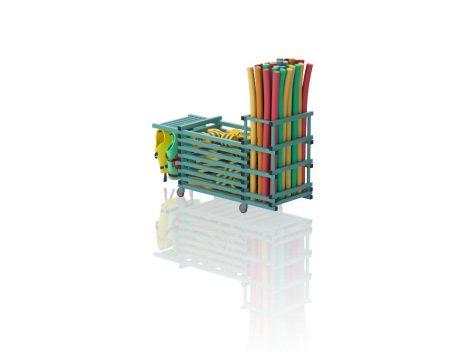 TEO V3-1 - Gurulós kombinált tároló (vízszintes rács; tető nélkül, mellényakasztó)